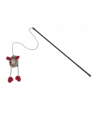 Въдица с плюшена мишка със звук - NOBBY Германия - 50 см / 6 см